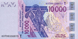 P818Tc Togo W.A.S. T 10.000 Francs Year 2005
