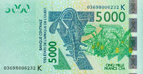 P717k Senegal W.A.S. K 5000 Francs Year 2003/04/2011