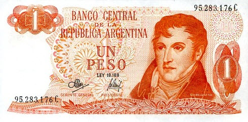 P287 Argentina 1 Peso Year ND