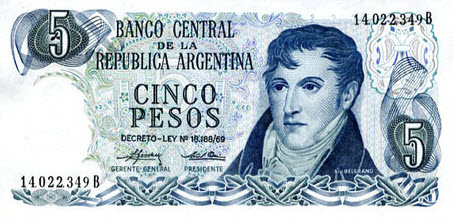 P294 Argentina 5 Pesos Year ND