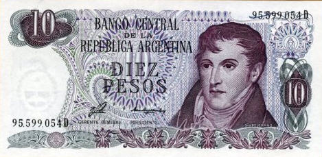 P300 Argentina 10 Pesos Year ND