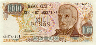 P304 Argentina 1000 Pesos Year nd