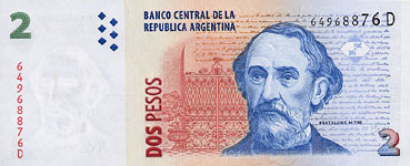 P352 Argentina 2 Pesos Year nd