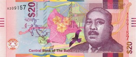 P80 Bahamas 20 Dollars Year 2018