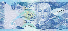 P73 Barbados 2 Dollars Year 2013
