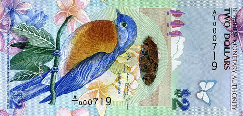 P57a Bermuda 2 Dollars Year 2009