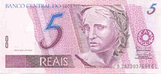 P244a Brasil 5 Reals Year nd