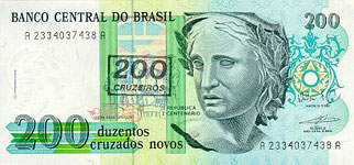 40.00 Euro - Brasil P225 Bundle of 100 pieces