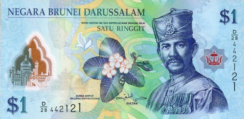 P35b Brunei 1 Dollar Year 2013
