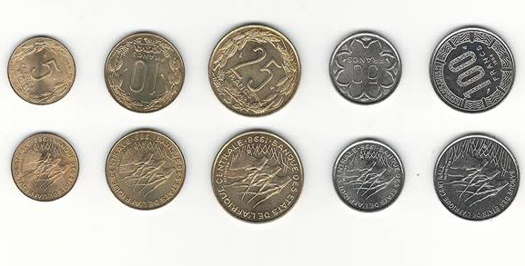 Central African States 5 Coins 1985-1996