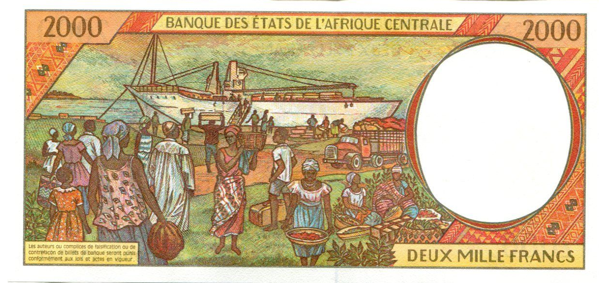 P103 Cg Central African States-Congo 2000 Francs Year 2002