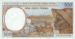 P501 N Equatorial Guinee 500 Francs Year 2000