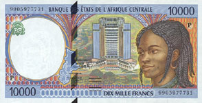 P605 P Chad 10.000 Francs Year 2000