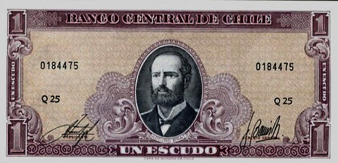 P136 Chile 1 Escudo Year ND