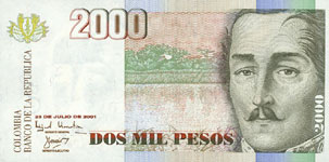 P451 Colombia 2000 Peso Year 2003/2004