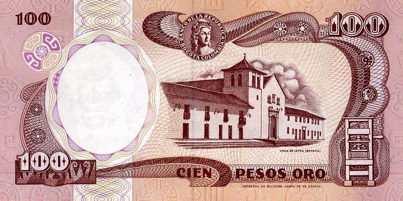 P426A Colombia 100 Pesos  Year 1991