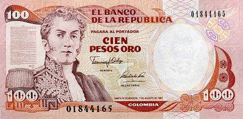 P426c Colombia 100 Pesos Year 1988