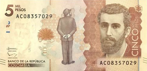 P459c Colombia 5000 Pesos Year 2017