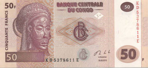 P 97b Congo Dem. Rep. 50 Francs Year 2013