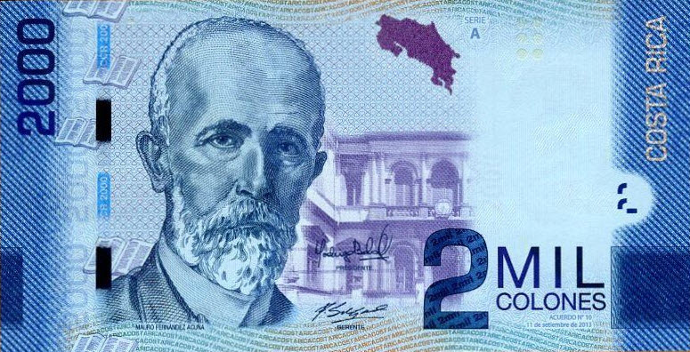 P275b Costa Rica 2000 Colones Year 2015