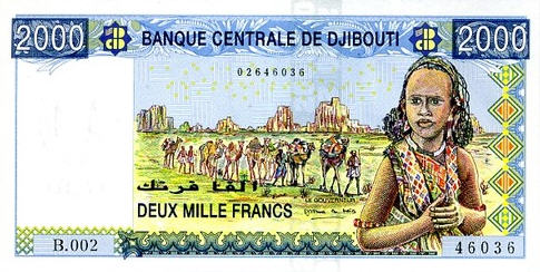 P43 Djibouti 2000 Francs Year nd