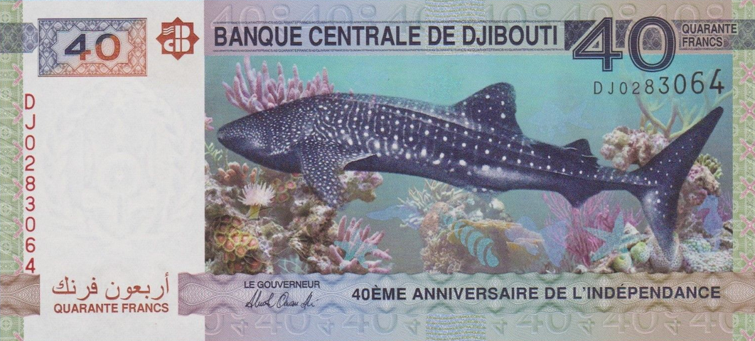 P46 Djbouti 40 Francs Year 2017 (Comm.)
