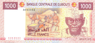 P42 Djibouti 1000 Francs Year 2005