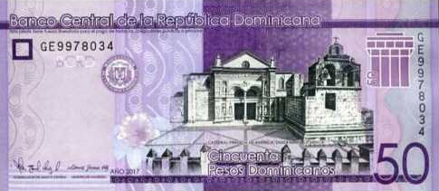 (192) ** PNew Dominican Republic 50 Pesos Year 2017 (2019)