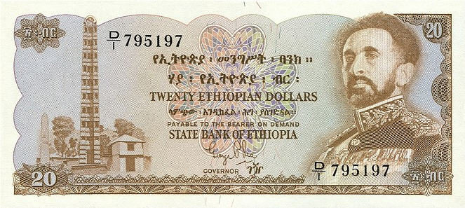 P21 Ethiopia 20 Dollars Year ND