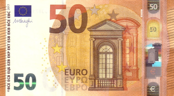 (222RC) European Union P23 - 50 Euro 2017 (RC - Draghi)