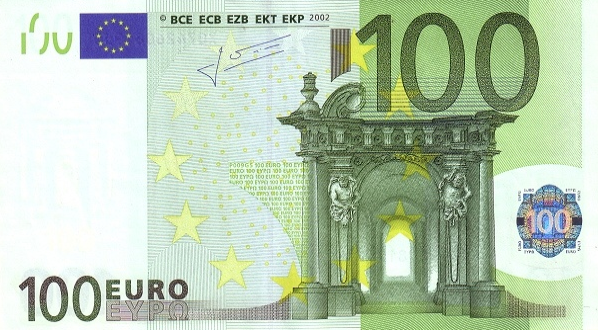 (266) European Union P12 - 100 Euro Year 2002 (X) (Trichet)