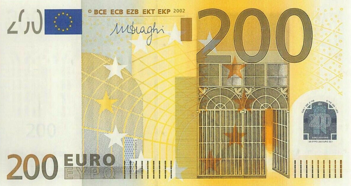 (269) European Union P19 - 200 Euro Year 2002 (X) (Draghi)