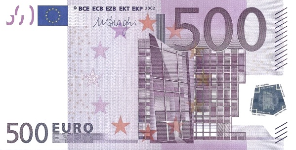 (271) European Union P19A - 500 Euro Year 2002 (N) (Draghi)