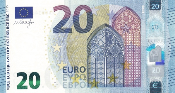 (262) European Union P22 - 20 Euro Year 2015 (RA,SA) (Draghi)