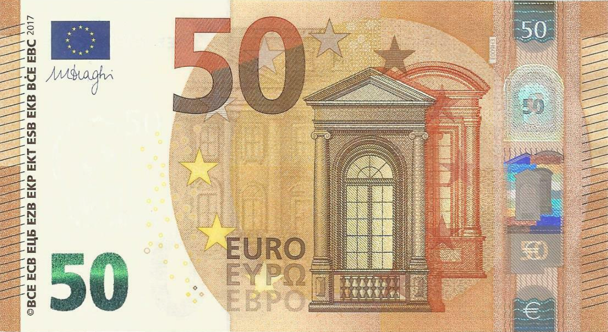 (231EA) European Union P23 - 50 Euro 2017 (EA - Draghi)