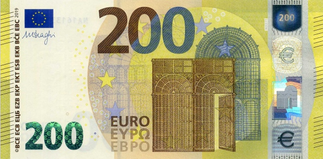 (221UA) European Union P25UA - 200 Euro Year 2019