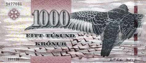 P33 Faeroe Islands 1000 Kronur