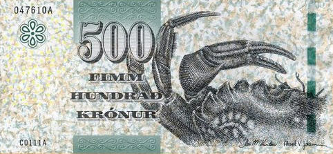 P32 Faeroe Islands 500 Kronur