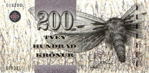 P26 Faeroe Islands 200 Kronur Year nd