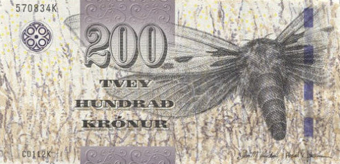 P31 Faroe Islands 200 Kronur Year 2011