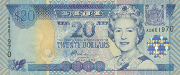 P107 Fiji Islands 20 Dollars Year nd (2002)