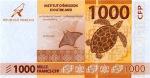 P6 French Pacific Territories 1000 Francs Year 2014