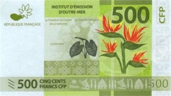 P5 French Pacific Territories 500 Francs Year 2014
