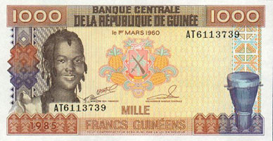 P32 Guinea 1000 Francs Year 1985