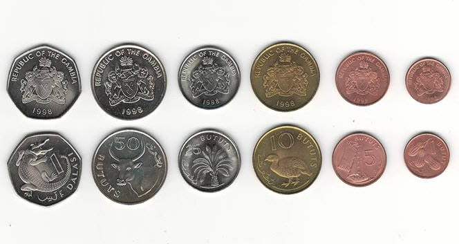 Gambia 6 Coins Year 1998