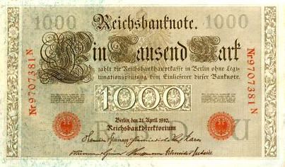 P 44b Germany 1000 Mark Year 1910