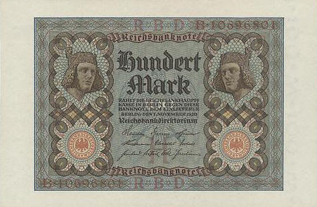 P 69 Germany 100 Mark Year 1920