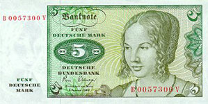 P 30b Germany 5 Mark Year 1980