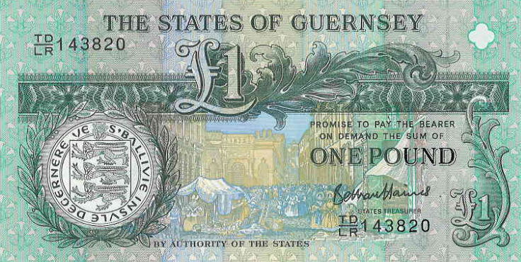 P62 Guernsey 1 Pound Year 2013
