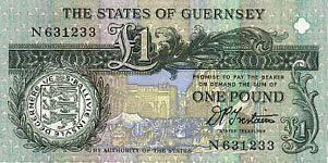 P52c Guernsey 1 Pound Year nd